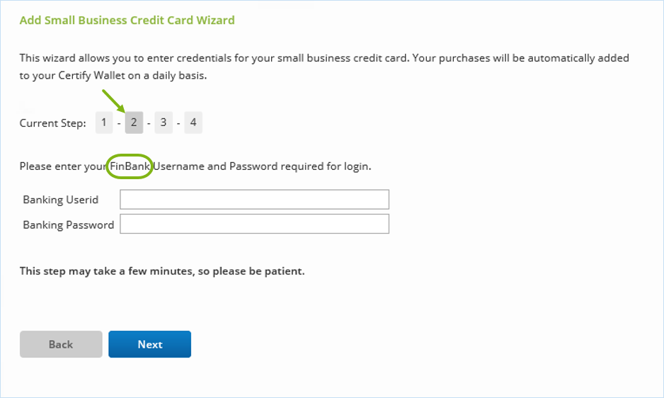 Re-Linking a Credit Card When Recovering Expenses – Certify Help Center