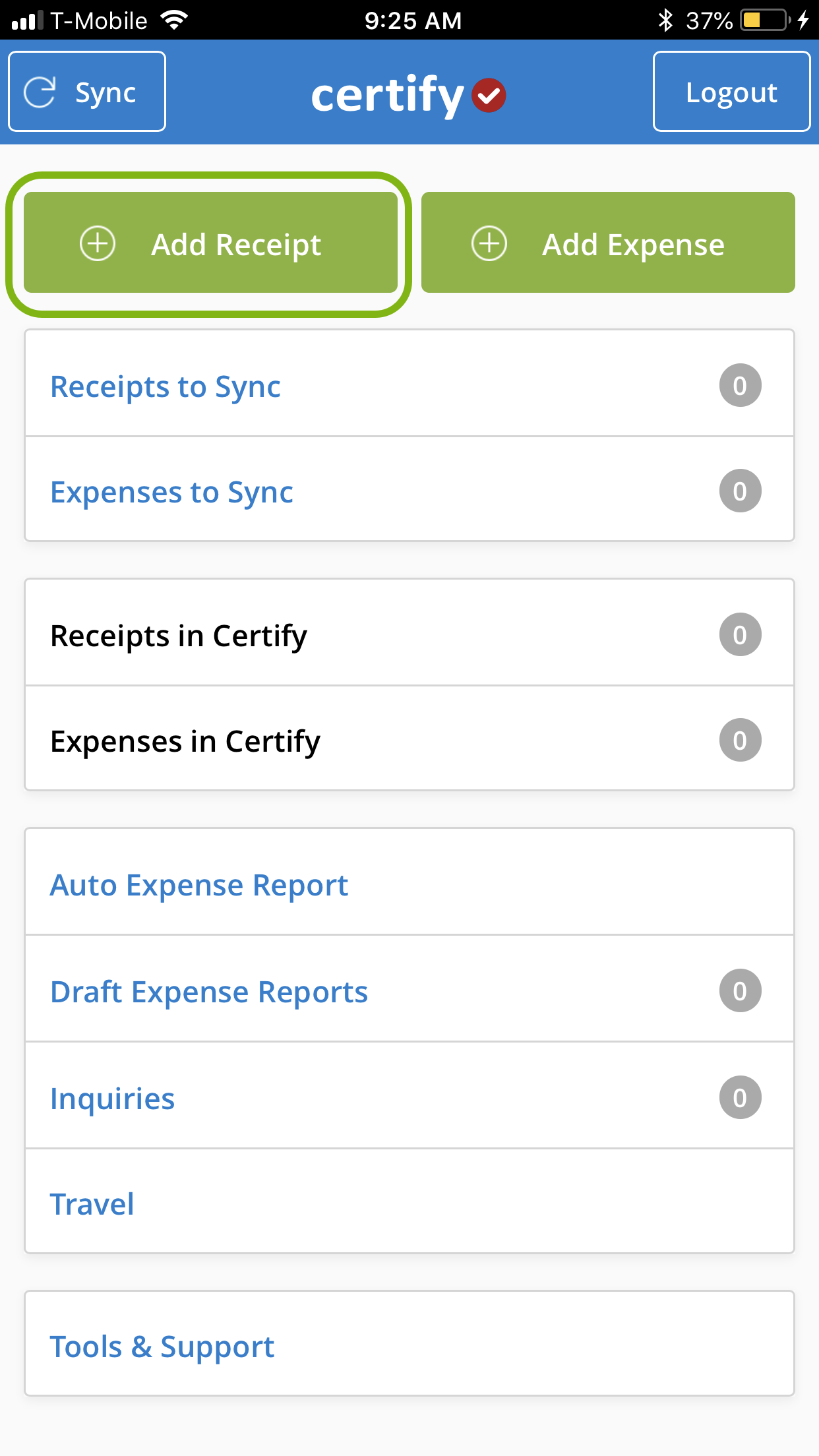 Adding Receipts using Certify Mobile – Certify Help Center