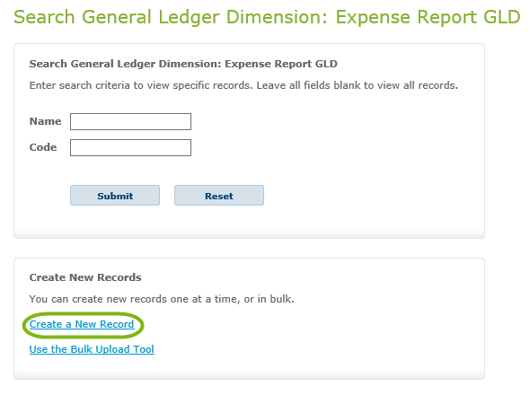 Expense Report General Ledger Dimensions – Certify Help Center