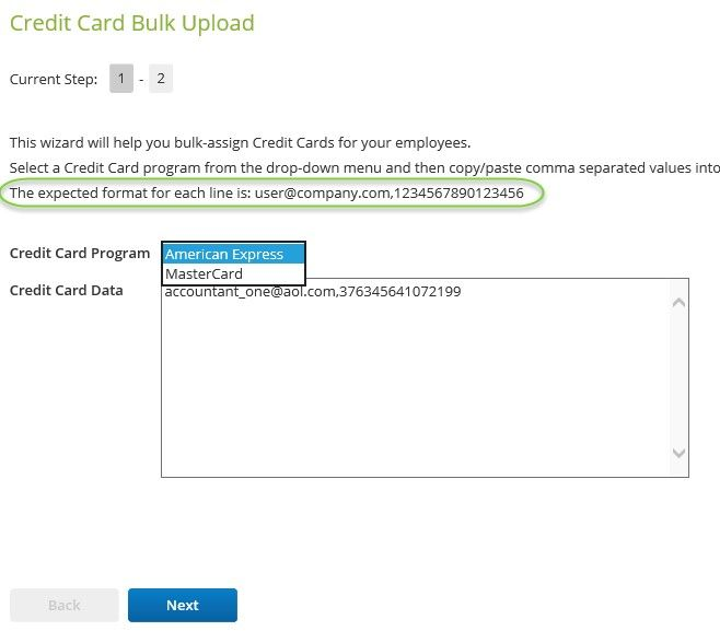 using the bulk credit card upload tool certify help center