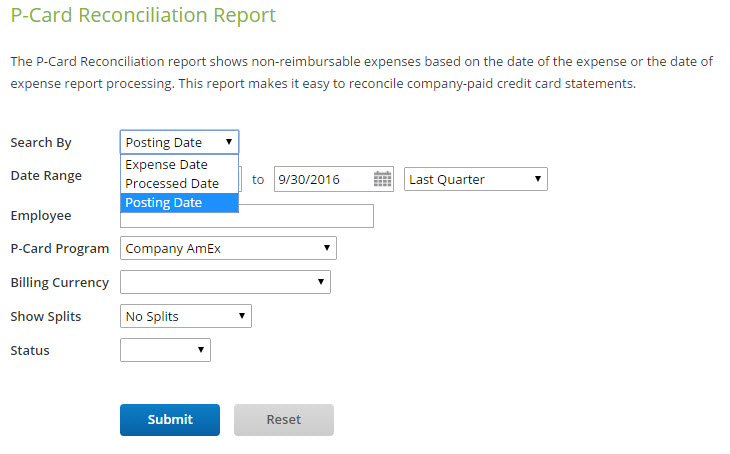 pcard reconciliation report certify help center