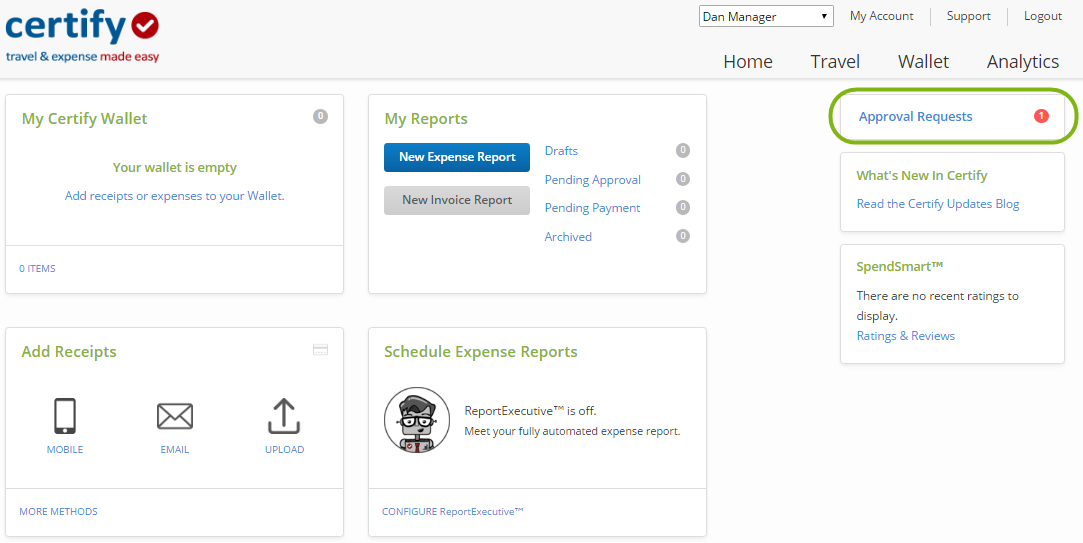 Approving Invoice Reports Certify Help Center - Open invoice report