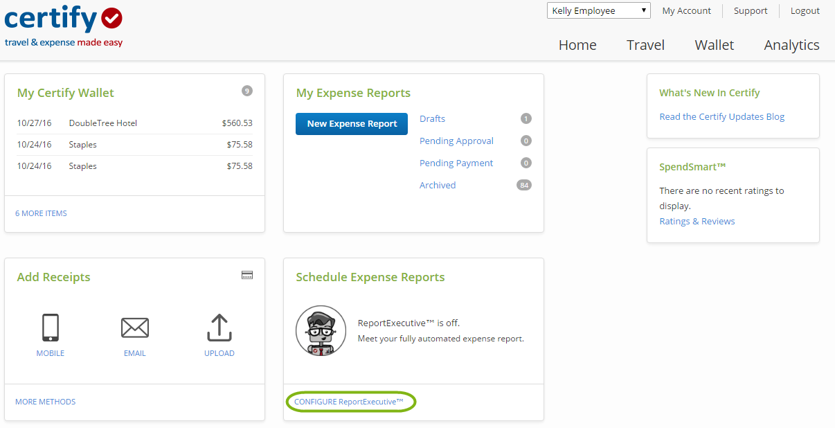 Setting an Individual ReportExecutive Schedule – Certify