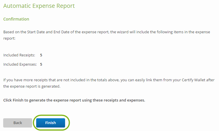 creating a new expense report certify help center